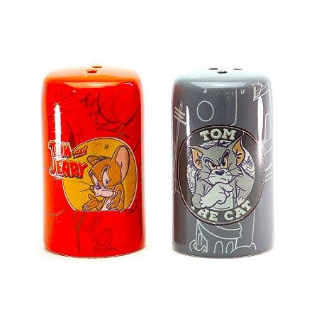 Conjunto Saleiro e Pimenteiro Tom e Jerry - Hanna Barbera