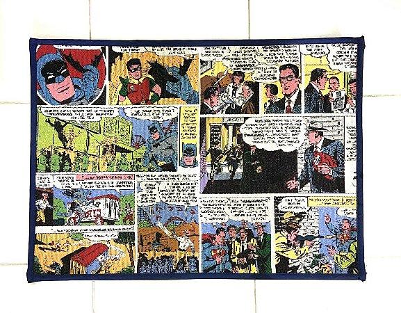 Tapete p/ Banheiro Poliéster Batman Quadrinhos - DC Comics