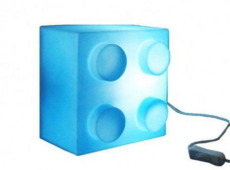 Luminária Bloco de Montar Lego Azul