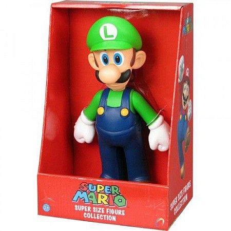 Super Mario Super Size Luigi. Boneco Vinil 20cm