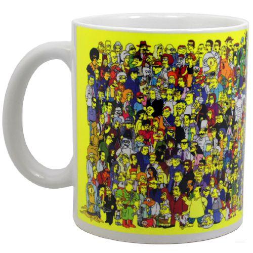 Caneca de Porcelana 330ml Personagens - Os Simpsons