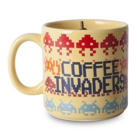Caneca de Porcelana Space Invaders