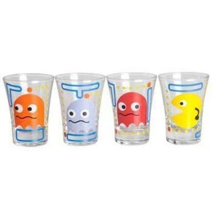 Conjunto 4 Copos de Shot Pac Man