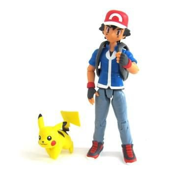 Pokemon Boneco Articulado Treinador - Ash e Pikachú