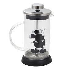 Cafeteira de Vidro Prensa Francesa 350ml Mickey Mouse - Disney