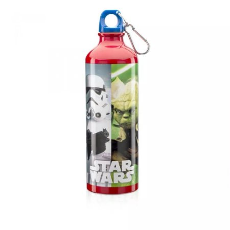 Squeeze Alumínio Mosquetão 600ml Personagens - Star Wars