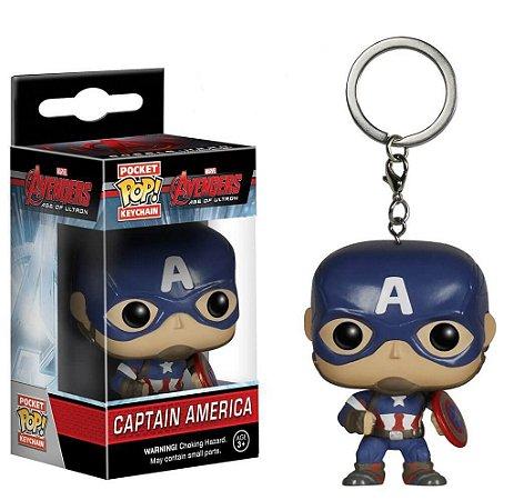 Pocket POP! Funko Chaveiro Capitão América - Marvel