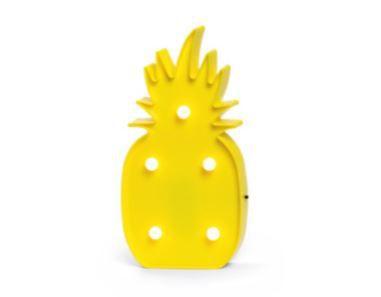 Luminária Decorativa Led 3D Abacaxi Amarelo