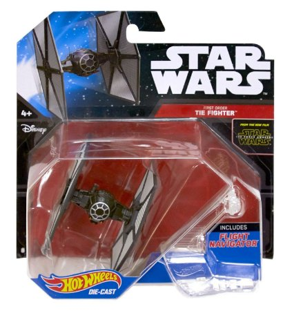 First Order Tie Figther Star Wars Naves Hot Wheels - Primeira Ordem