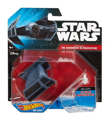 Darth Vader´s Tie Advanced X1 Prototype Star Wars Naves Hot Wheels