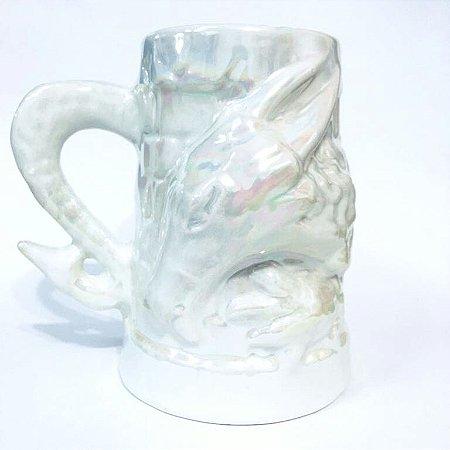 Caneca Porcelana 3D 700ml - Dragão Medieval