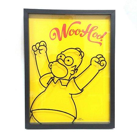 Quadro Porta Tampinhas de Cerveja Homer Simpson - Woohoo!