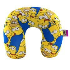 Almofada para Pescoço em Micropérolas - Os Simpsons