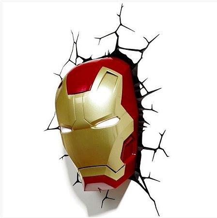 Luminária 3D Light Fx Máscara Homem de Ferro - MARVEL