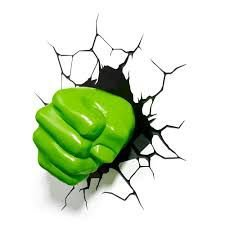 Luminária 3D Punho do Hulk - Avengers Assemble MARVEL