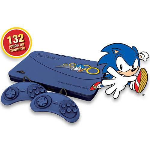 Master System Evolution Blue com 132 Jogos na Memória