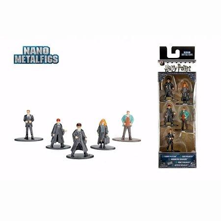 Coleção 5 Mini Figuras Nano Metal - Harry Potter Personagens