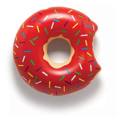 Boia Inflável 65cm - Donut Vermelho