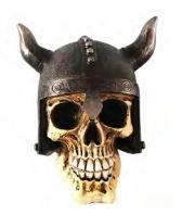 Mini Caveira em Resina Capacete Viking