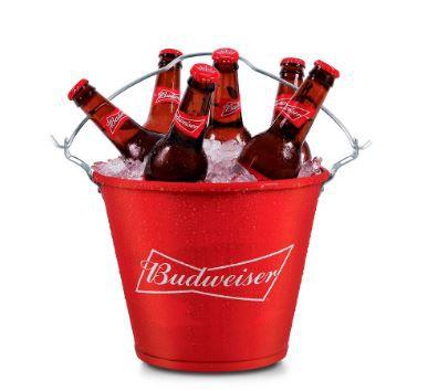 Balde de Gelo para Cerveja Budweiser. Licenciado