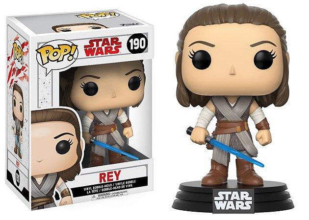 POP! Funko Star Wars: Rey - O Ultimo Jedi # 190
