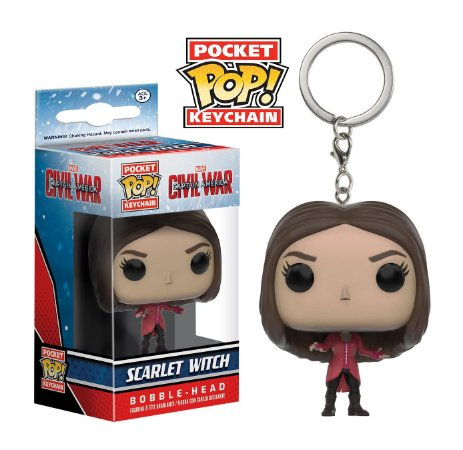 Chaveiro Pocket POP! Funko Scarlet Witch - Feiticeira Escarlate - Marvel