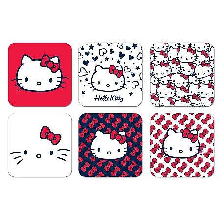 Conjunto 6 Porta Copos Hello Kitty - SanRio