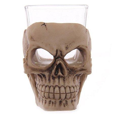 Copo Shot / Dose Caveira Skull Resina e Vidro