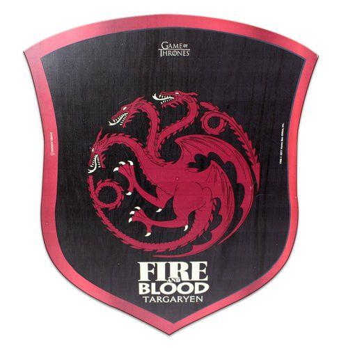 Placa Decorativa Madeira GOT- Game of Thrones - Targaryen