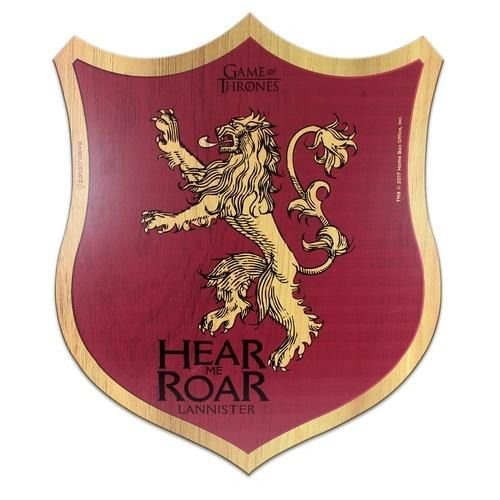 Placa Decorativa Madeira GOT- Game of Thrones - Lannister