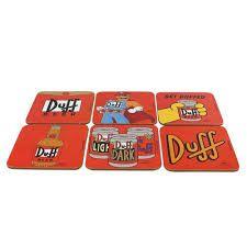 Conjunto c/ 6Porta Copos Duff Beer - Os Simpsons