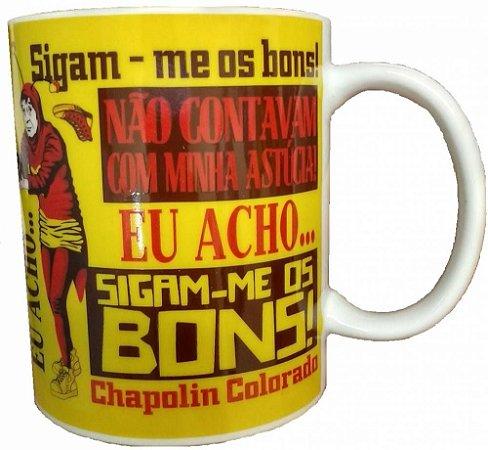 Caneca Porcelana 300ml Chapolin Colorado - Frases