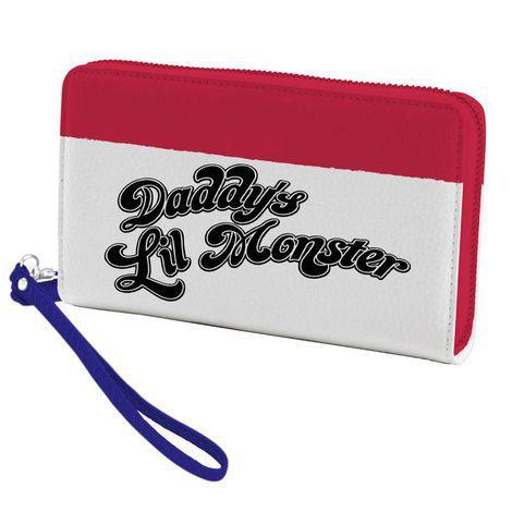 Carteira com Zíper e Alça Uniforme Harley Quinn - Daddys Lil Monster
