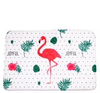 Tapete p/ Banheiro 40x60cm - Joyful Flamingos
