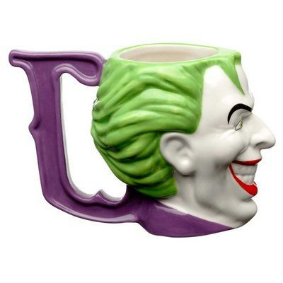Caneca Porcelana 3D 235ml Coringa, Joker Face - DC Comics