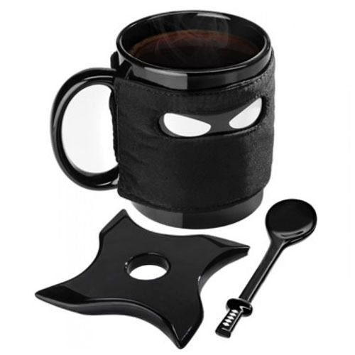 Caneca Ninja - Ninja Mug. C/ Porta copo, Colher e capa
