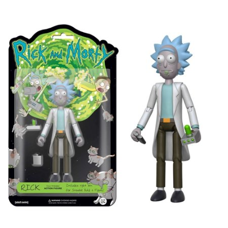 Funko! Action Figure: Rick articulado com acessórios - Rick and Morty