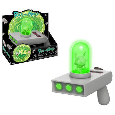 Rick and Morty - Portal Gun / Pistola de portal do Rick, c/ Luz. Funko.