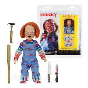 Miniatura Chucky,  Boneco Assassino (Child´s Play) c/ acessórios - NECA