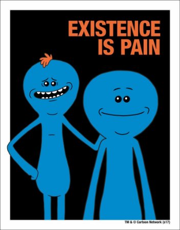 Placa Decorativa Mr. Meeseeks, Existence is Pain - Rick and Morty