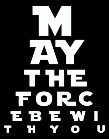 Placa Decorativa - May the force be With You