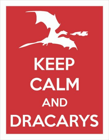 Placa Decorativa Keep Calm and Dracarys