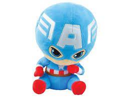 Pelúcia 21cm Avengers Capitão América  - Marvel