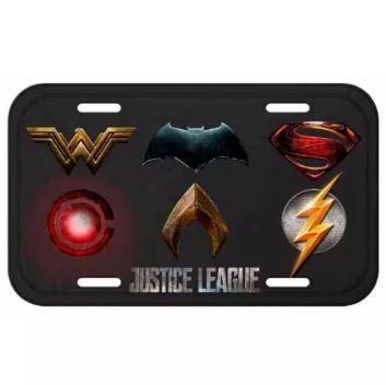 Placa Decorativa Alumínio Liga da Justiça - Logos