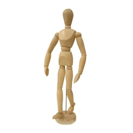 Boneco Mânequim Articulado de Madeira 30cm