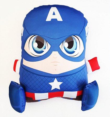 Almofada CuboArk 3D Formato Capitão America