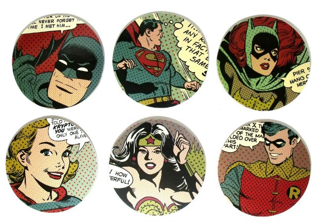 6 Porta Copos Liga da Justiça DC Comics
