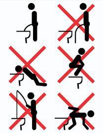 Placa Decorativa de Banheiro - Como (NÃO) usar o toilete