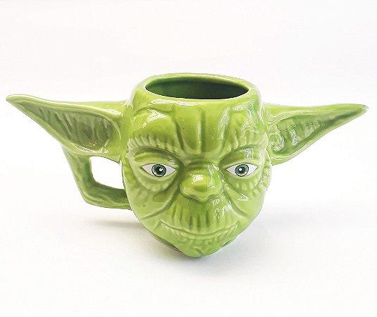 Caneca Porcelana 3D Mestre Yoda - Star Wars