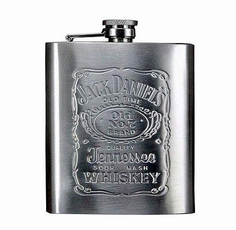 Cantil Metal Aço Inox 210ml Jack Daniels